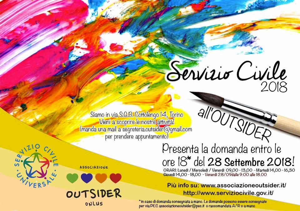 Servizio Civile 2018 – 2019 in Outsider