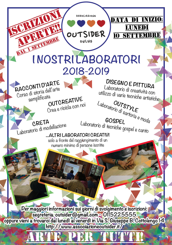 ISCRIZIONI APERTE PER LABORATORI 2018-2019